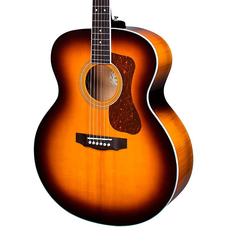 GuildF-250E Deluxe Jumbo Acoustic-Electric GuitarAntique Sunburst
