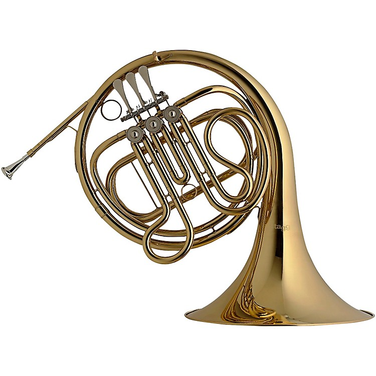 StaggF FRENCHHORN,3ROT.VL.FORM CASEClear LacquerFixed Bell