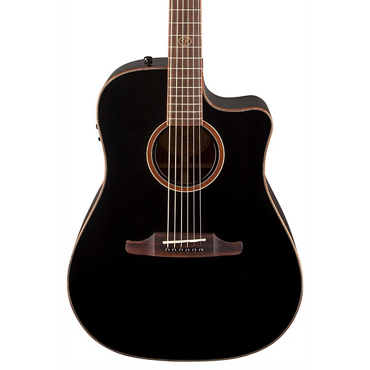 Fender F1020SCE Cutaway Dreadnought Acoustic-Electric Guitar Black