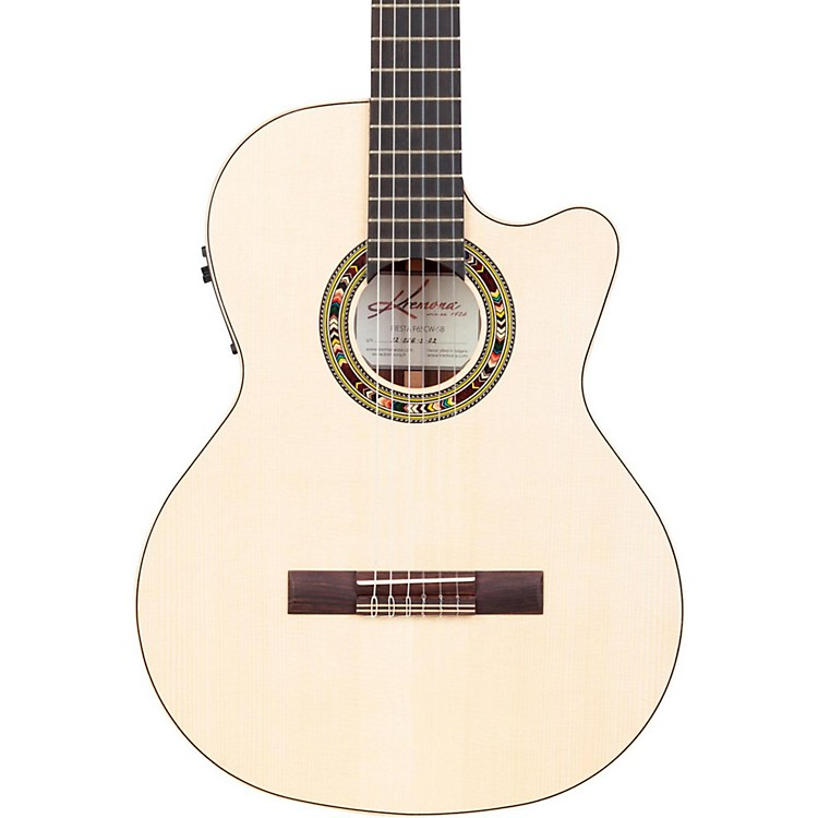 KremonaF65CW Fiesta Cutaway Acoustic-Electric Classical GuitarNatural888365810843