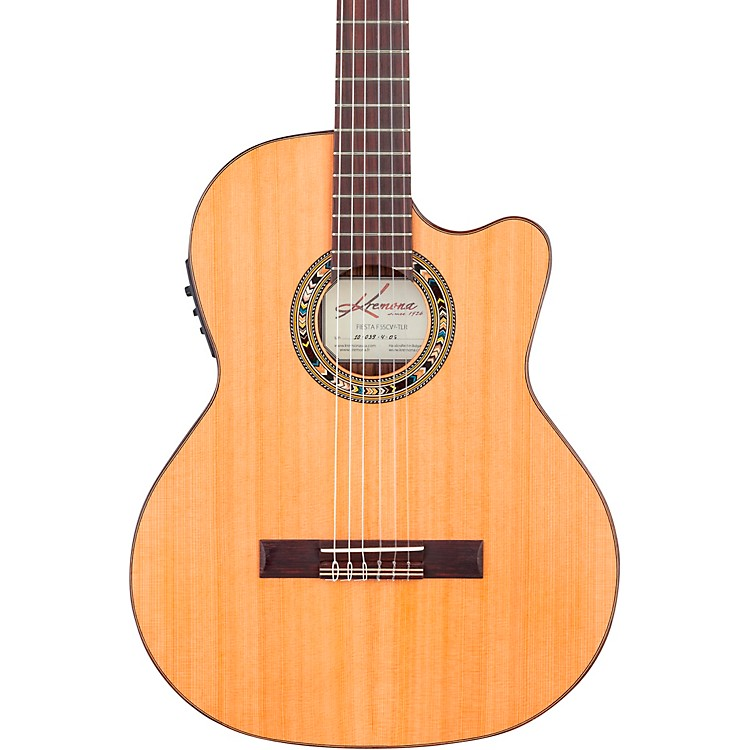 Kremona F65CW TL Thin Bodied Nylon-String Acoustic-Electric Guitar Natural