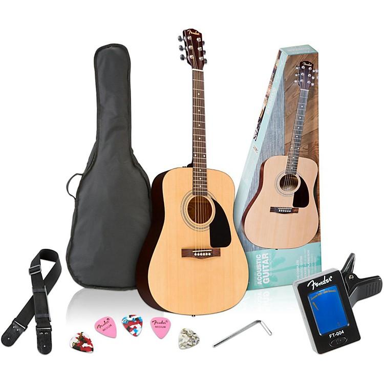 FenderFA-100 Dreadnought Acoustic Guitar PackNatural