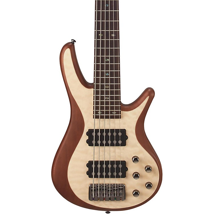 Mitchell FB706 Fusion Series 6-String Bass Guitar with Active EQ Natural