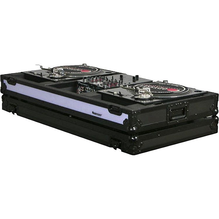 Odyssey FFXBM10WBL DJ Coffin For Two Turntables and 10