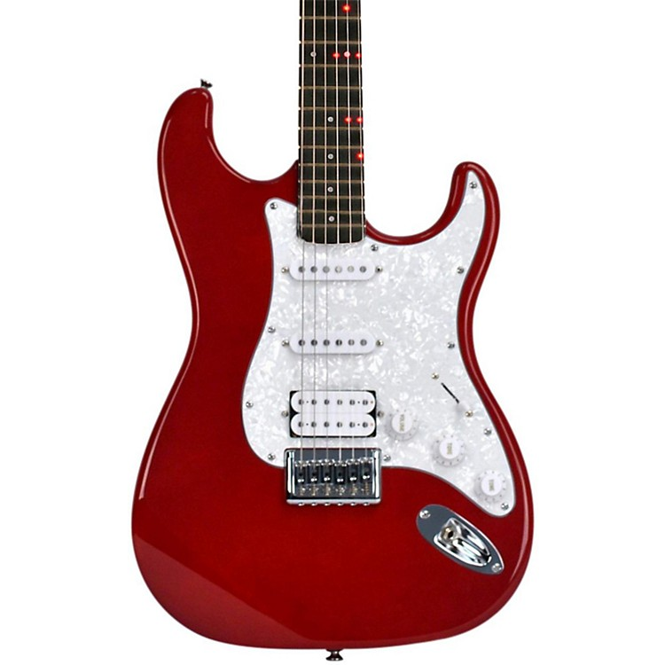 FretlightFG-521 Electric Guitar with Built-in Lighted Learning SystemRed