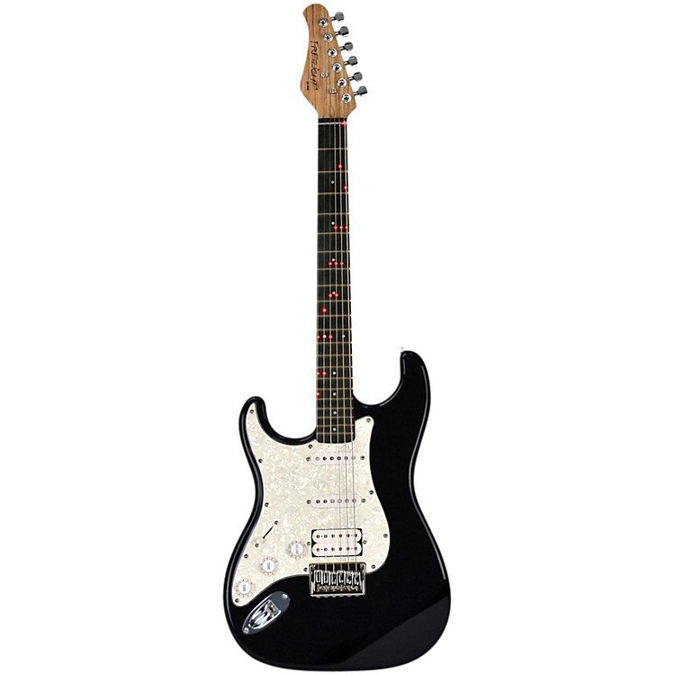 FretlightFG-521  Left-Handed Electric Guitar with Built-in Lighted Learning SystemBlack