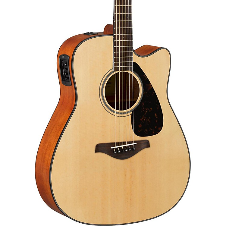 Yamaha FG Series FGX800C Acoustic-Electric Guitar Natural