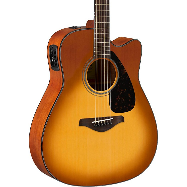 Yamaha FG Series FGX800C Acoustic-Electric Guitar Sand Burst