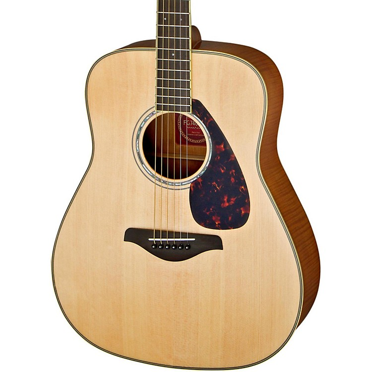 Yamaha FG740S Flame Maple Solid Top Acoustic Guitar