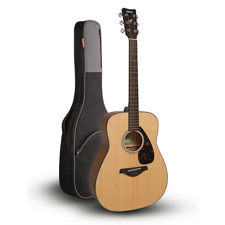 YamahaFG800 Folk Acoustic Guitar Natural with Road Runner RR1AG Gig Bag