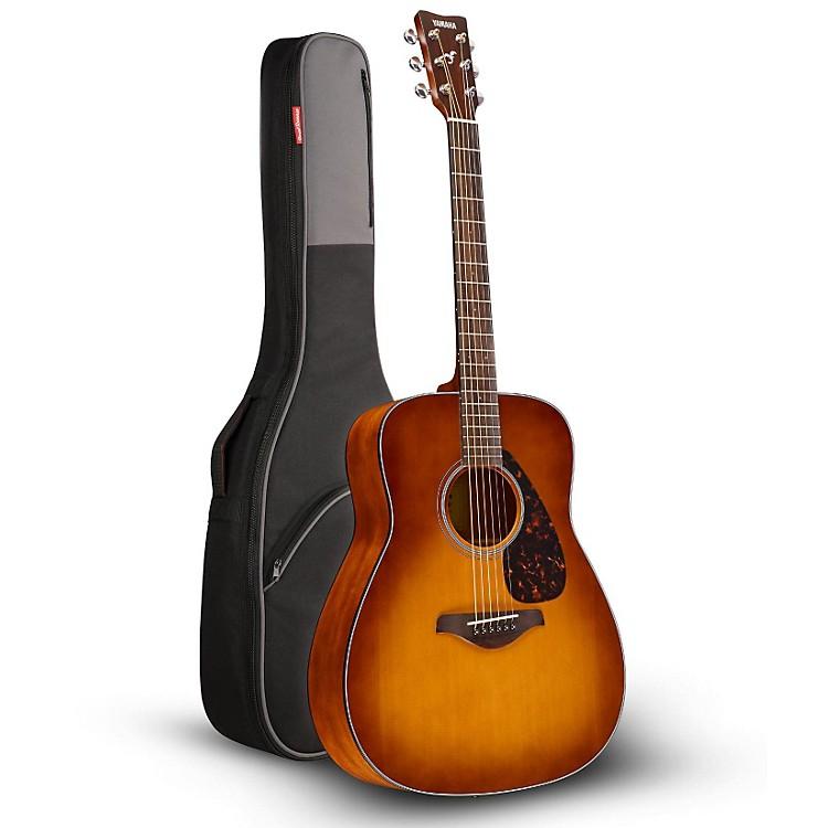 YamahaFG800 Folk Acoustic Guitar Sand Burst with Road Runner RR1AG Gig Bag
