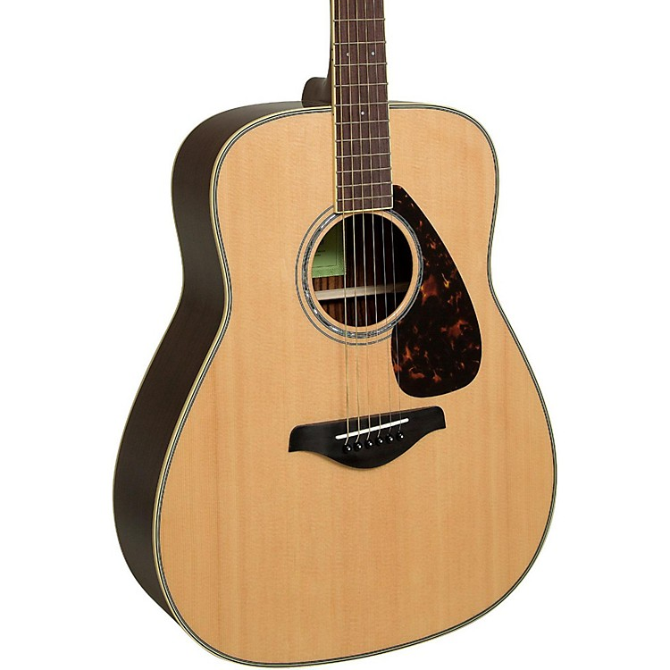 Yamaha FG830 Dreadnought Acoustic Guitar Natural