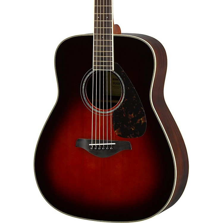 Yamaha FG830 Dreadnought Acoustic Guitar Tobacco Sunburst