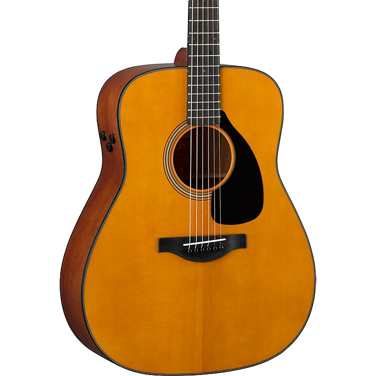 Yamaha FGX3 Red Label Dreadnought Acoustic-Electric Guitar Natural Matte