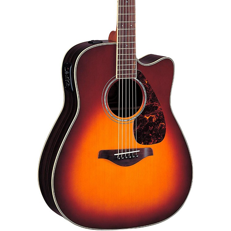 Yamaha FGX730SC Solid Top Acoustic-Electric Guitar Brown Sunburst