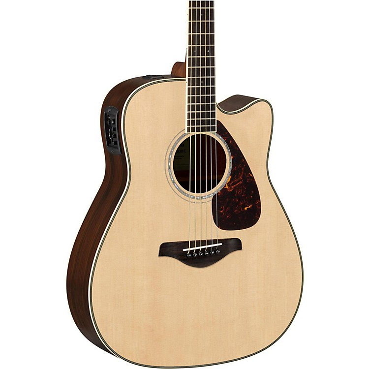Yamaha FGX830C Folk Acoustic-Electric Guitar Natural