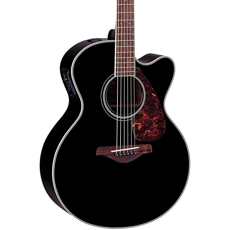 YamahaFJX720SC Solid Spruce Top Mahogany Acoustic-Electric GuitarBlack