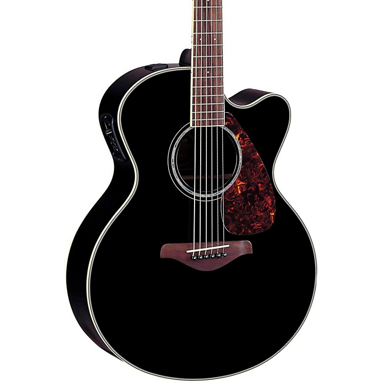 Yamaha FJX730SC Solid Spruce Top Rosewood Acoustic-Electric Guitar Black
