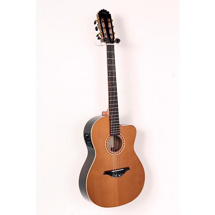 Manuel RodriguezFLMOD500 Flamenco Moderna Acoustic-Electric Nylon StringNatural.,  Walnut B and S, Solid Cedar Top888365663531