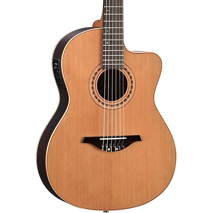 Manuel Rodriguez FLMOD500 Flamenco Moderna Acoustic-Electric Nylon String Natural.,  Walnut B and S, Solid Cedar Top 888365842851