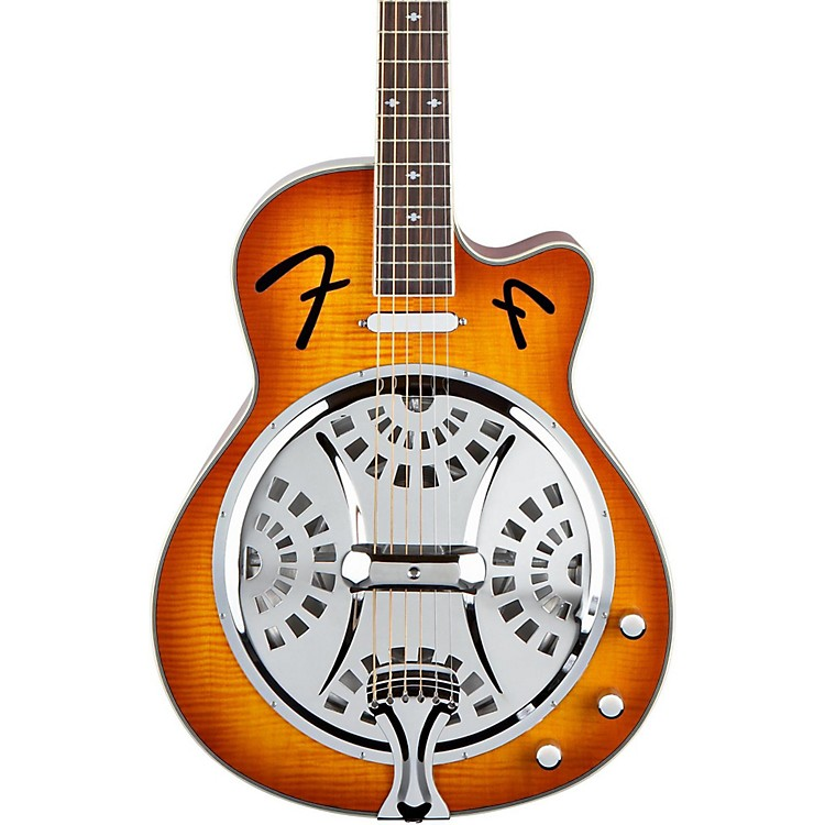fender fr50ce cutaway acoustic electric resonator guitar music123. Black Bedroom Furniture Sets. Home Design Ideas