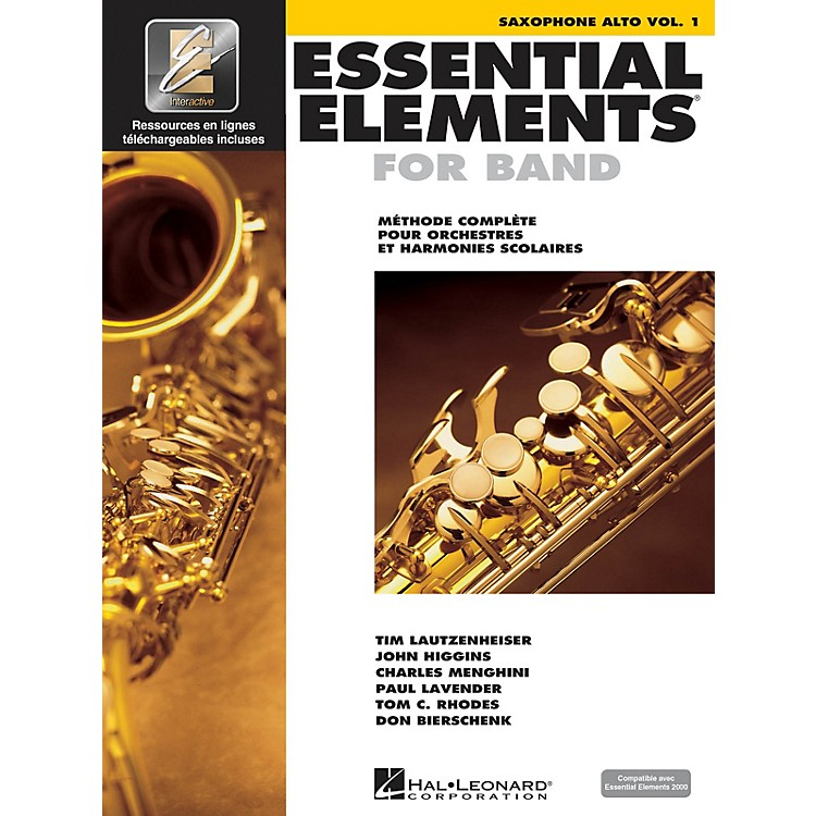 Hal LeonardFRENCH EDITION Essential Elements EE2000 Alto Saxophone (Book/Online Media)