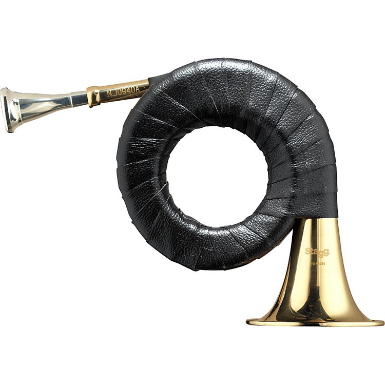Stagg FS285S Mini Bb Hunting Horn with Bag Lacquer