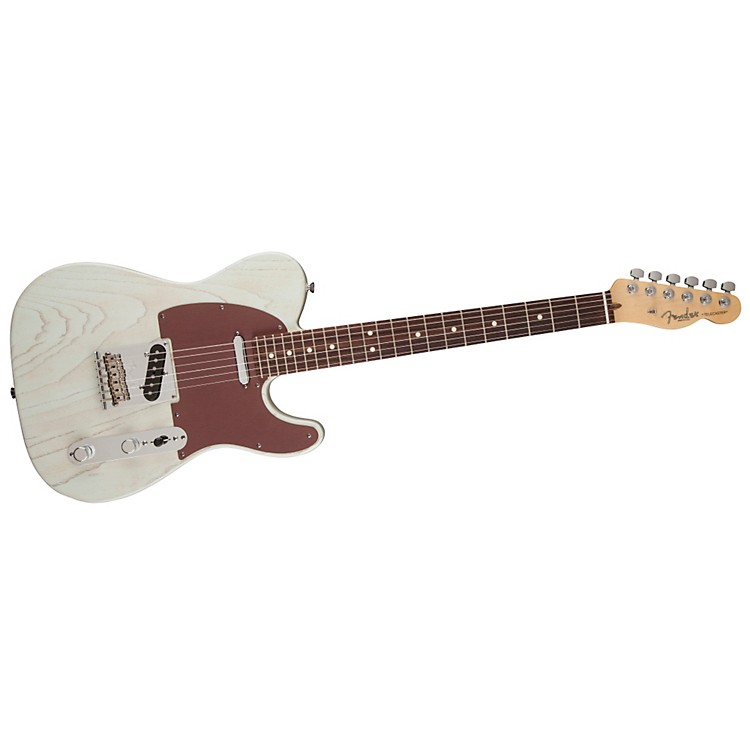 FenderFSR American Telecaster Rustic Ash Electric GuitarSonic BlueRosewood Fingerboard