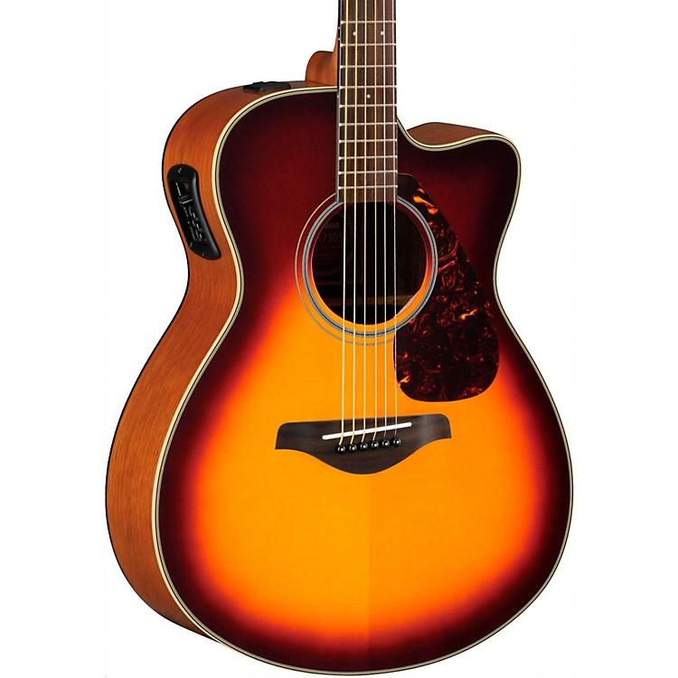 YamahaFSX700SC Solid Top Concert Cutaway Acoustic-Electric GuitarBrown Sunburst