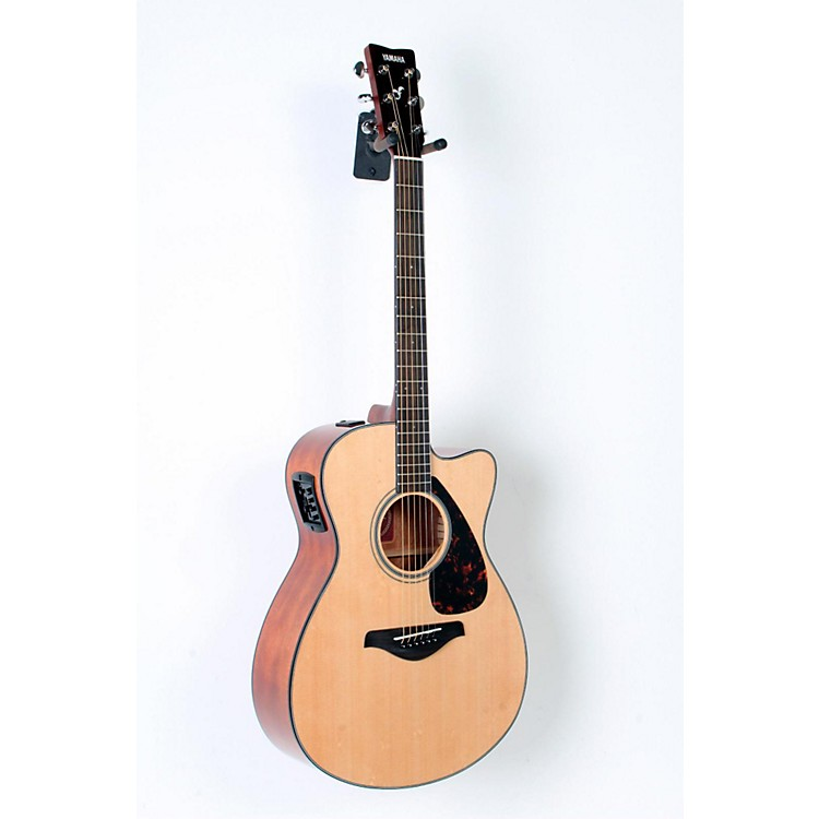 Yamaha FSX700SC Solid Top Concert Cutaway Acoustic-Electric Guitar Natural 888365763309