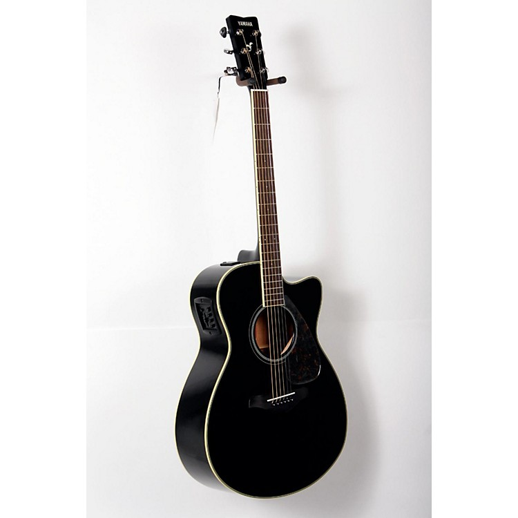 Yamaha FSX720SC Solid Top Concert Cutaway Acoustic-Electric Guitar Black 888365819679