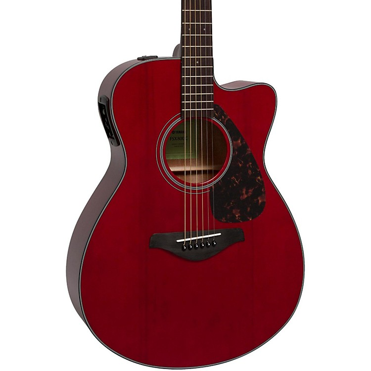 YamahaFSX800C Small Body Acoustic-Electric GuitarRuby Red