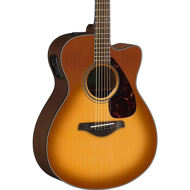 yamaha fsx800c small body acoustic electric guitar sand burst music123. Black Bedroom Furniture Sets. Home Design Ideas