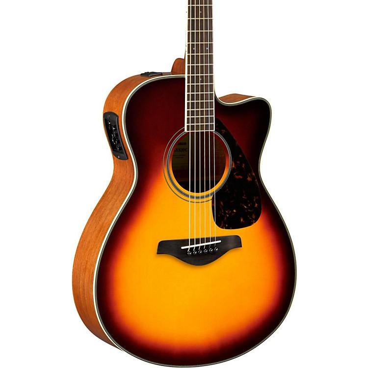 YamahaFSX820C Small Body Acoustic-Electric GuitarBrown Sunburst