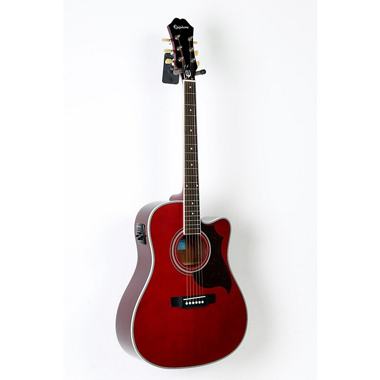 Epiphone FT-350SCE Acoustic-Electric Guitar with Min-Etune Wine Red 888365770956