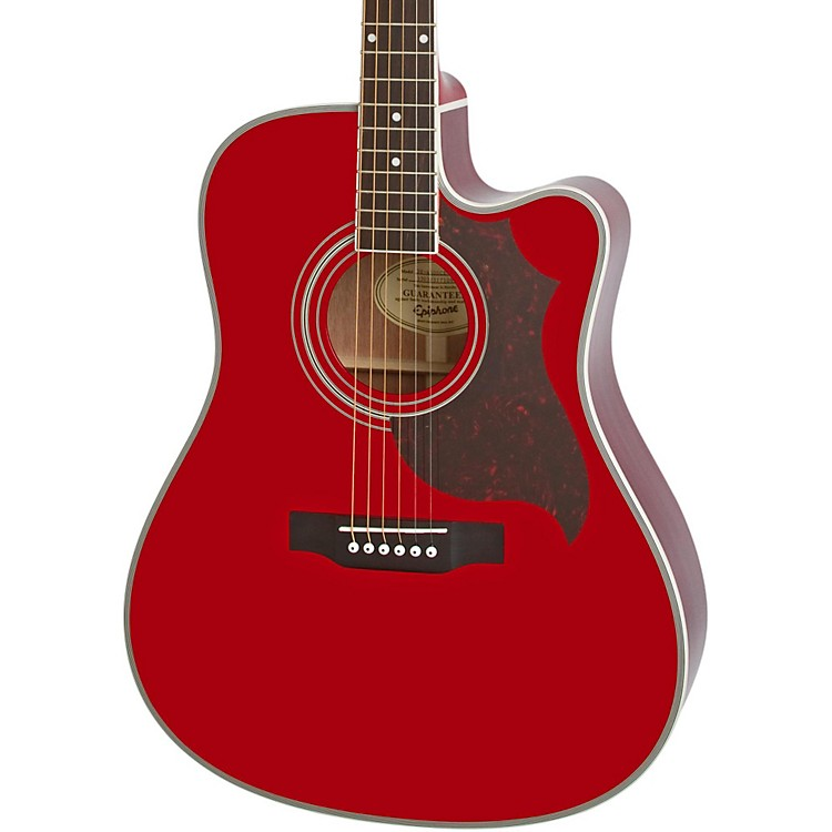 Epiphone FT-350SCE Acoustic-Electric Guitar with Min-Etune Wine Red