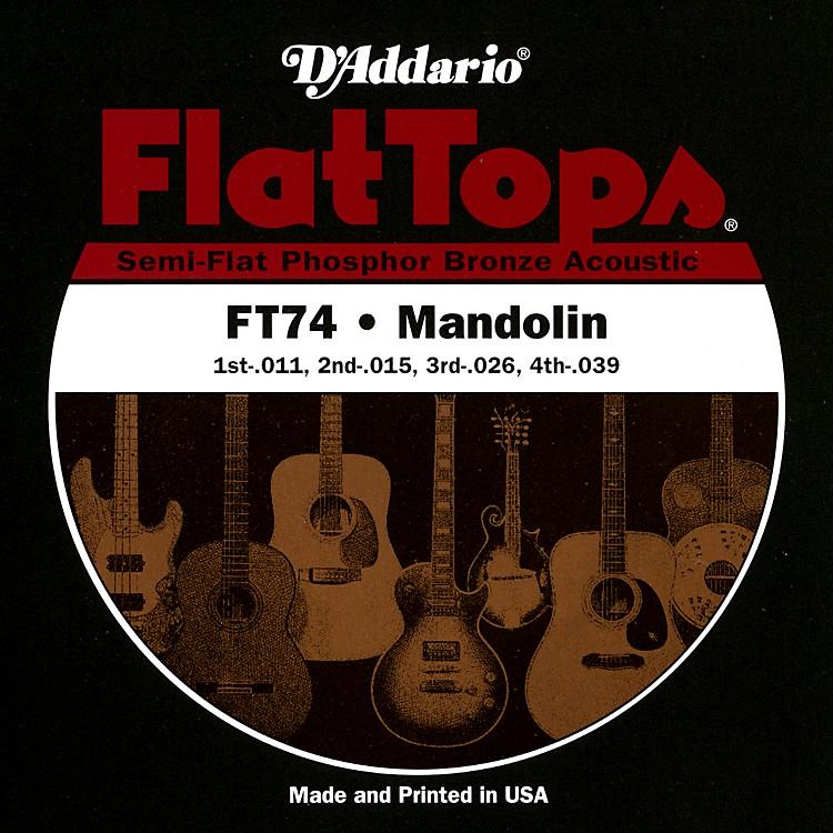 D'AddarioFT74 Flat Tops Phosphor Bronze Mandolin Strings Medium