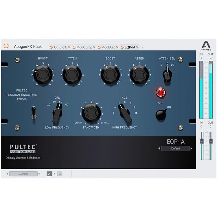 ApogeeFX Rack Pultec EQP-1A Program Equalizer