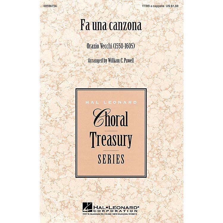 Hal LeonardFa Una Canzona TTBB A Cappella arranged by William Powell