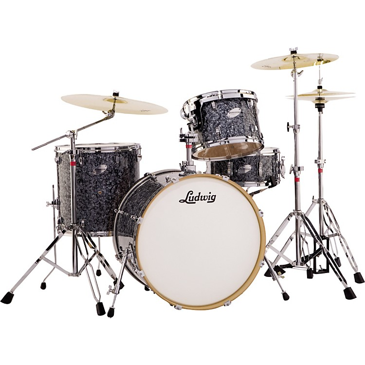 ludwig fab 4 accent series 4 piece drum set with hardware music123. Black Bedroom Furniture Sets. Home Design Ideas