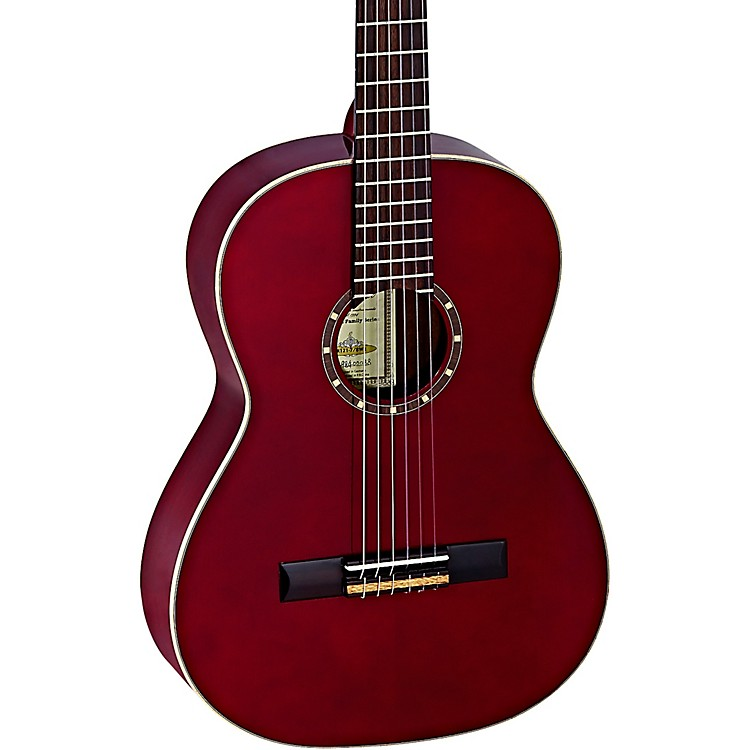 Ortega Family Series R121-7/8WR 7/8 Size Classical Guitar Transparent Wine Red 0.875