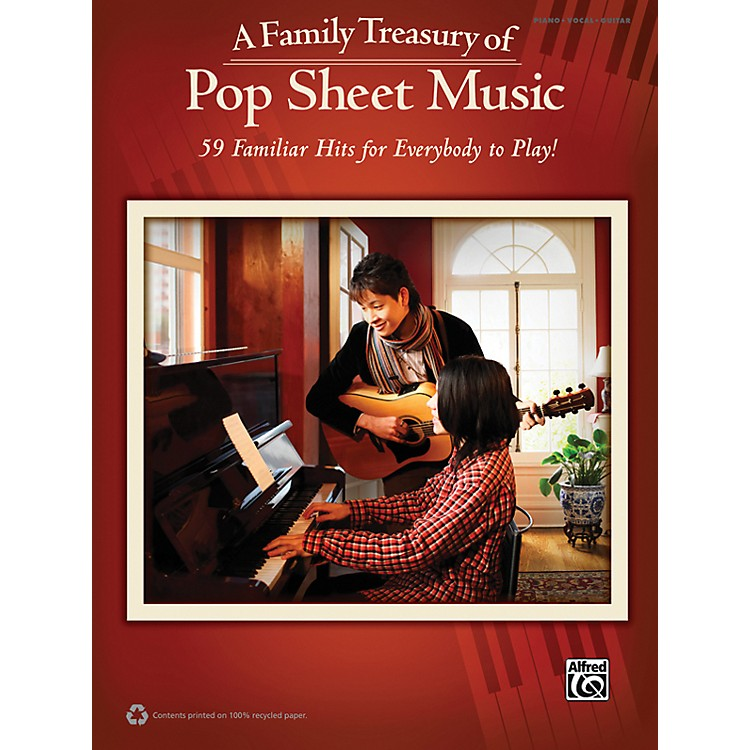Alfred Family Treasury of Pop Sheet Music Book