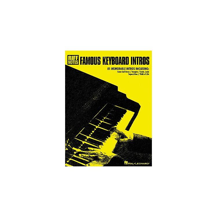 Hal LeonardFamous Keyboard Intros Book