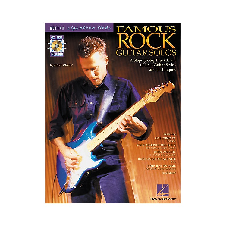 Hal LeonardFamous Rock Guitar Solos Signature Licks Book with CD