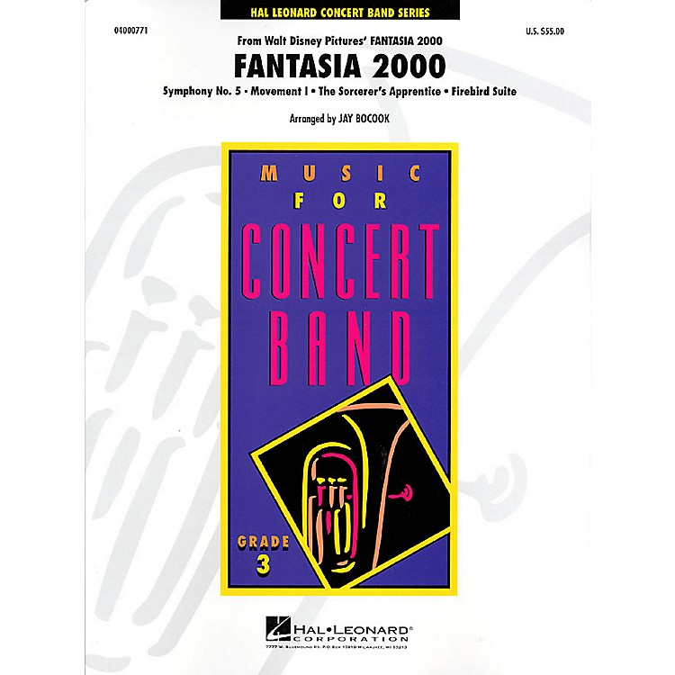Hal Leonard Fantasia 2000 - Young Concert Band Level 3 by Jay Bocook