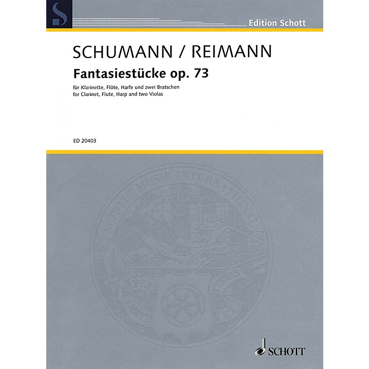 Schott Fantasiestücke, Op. 73 Ensemble Series Composed by Robert Schumann Arranged by Aribert Reimann