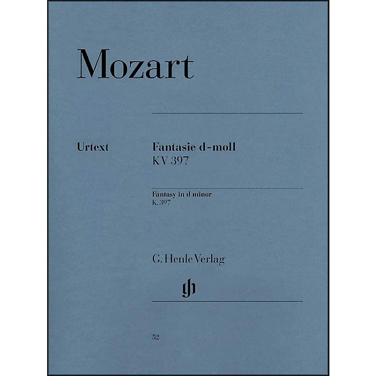 G. Henle VerlagFantasy D Minor K397 (385G) By Mozart