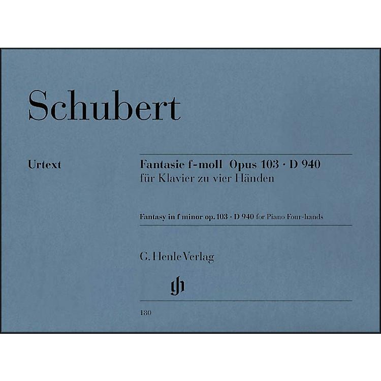 G. Henle VerlagFantasy F Minor Op. 103 D940 for 1 Piano, 4 Hands By Schubert
