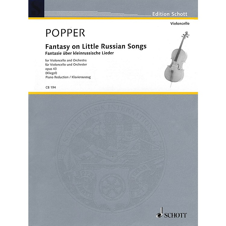 SchottFantasy on Little Russian Songs (Cello and Piano Reduction) String Series