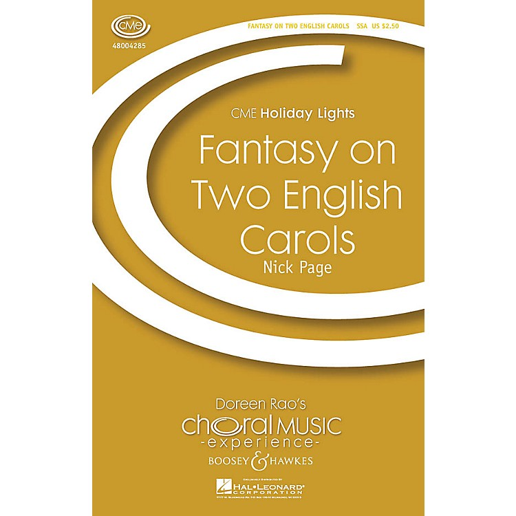 Boosey and HawkesFantasy on Two English Carols (CME Holiday Lights) SSA arranged by Nick Page